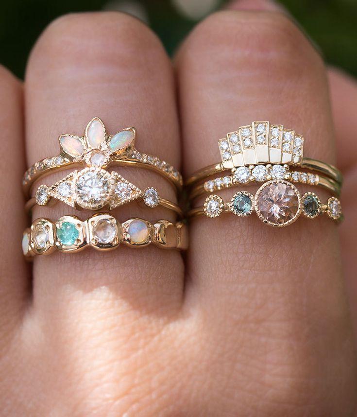 Diamond Fan Ring - Audry Rose