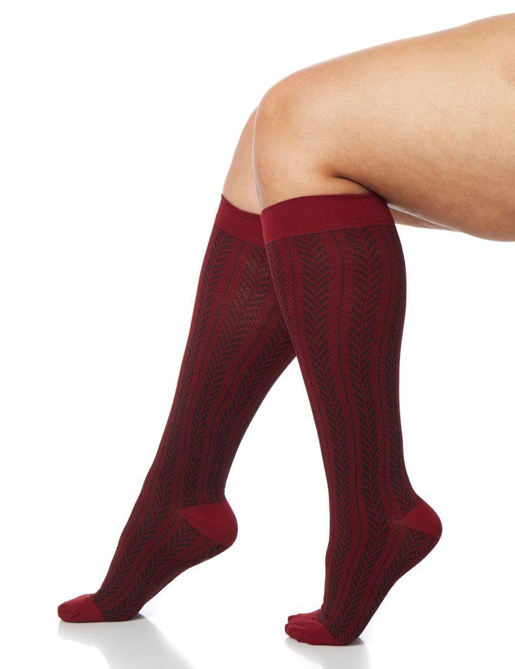 Chevron Medium Control Graduated Compression Trouser Socks (original price, $16.00) available at undefined