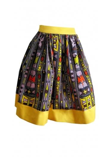 Tribal African Batik Print Skirt - Skirts - Apparel