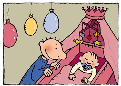 kleurplaat de dikke buik jules knutselen thema baby