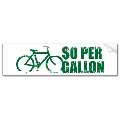 0 per gallon bumper sticker