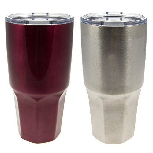 ad938f9879ef 2 Pack HiDR8 30oz Stainless Steel Hot Cold Insulated Travel Tumblers Coffee  Traveling Mugs Cups ** Read more details by clicking on the image.
