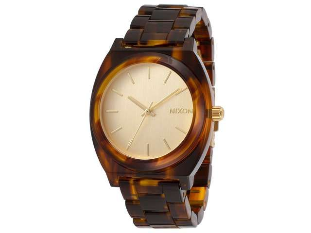 Newegg.Com - Nixon time teller gold dial Tortoise-shell Acetate Ladies Watch A3271424