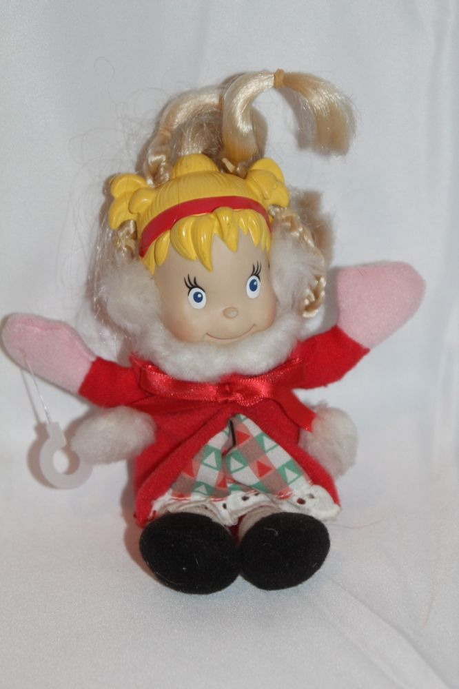 "Dr Suess Grinch Cindy Lou Who Dressed doll 2000 Universal Studios 12"" Vintage  #UniversalStudios"
