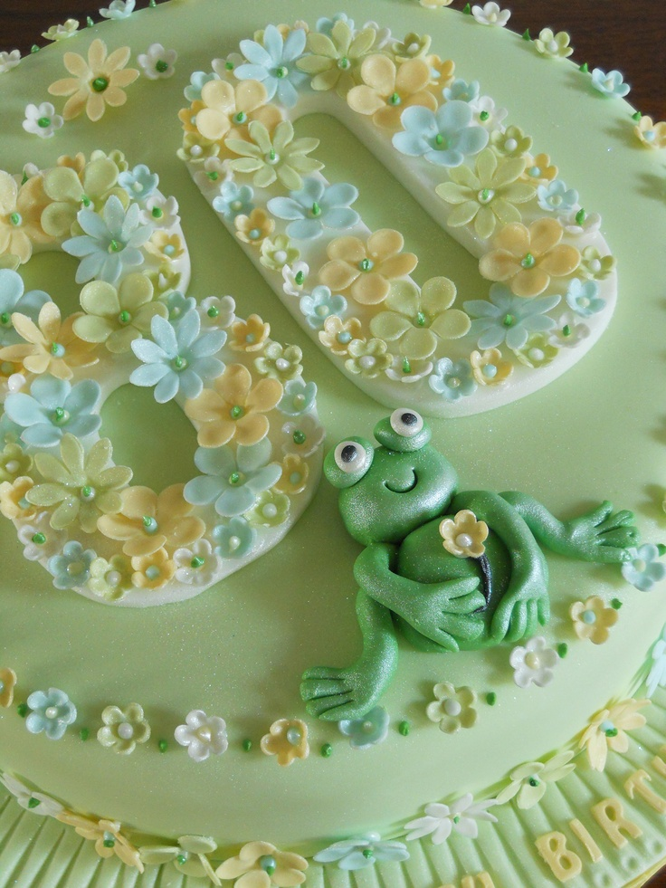 My Latest Creation An 80th Birthday Cake With Flowers And