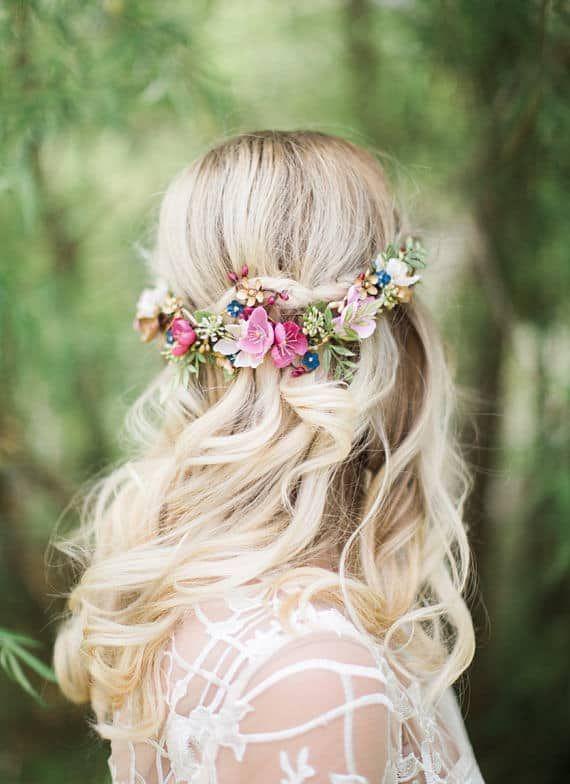 Blumenkronen und Blumen Haarschmuck für Hochzeiten