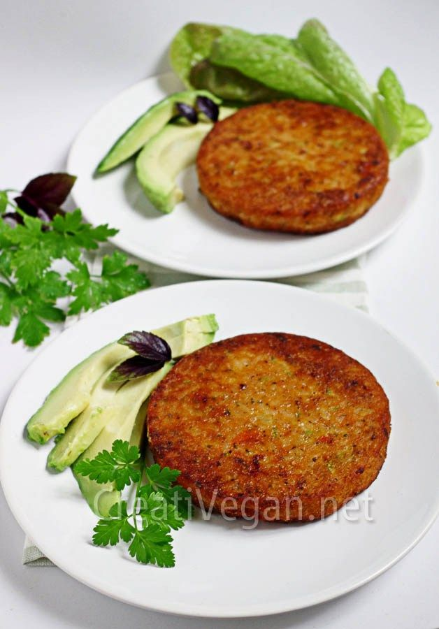 Hamburguesas de arroz y boniato (receta en español)