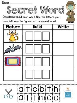 17 Best images about Short Vowel Word Families on Pinterest ...