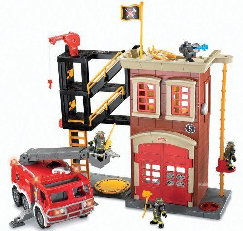 Imaginext Firestation & Fire Engine, http://www.amazon.co.uk/dp/B001BVV1PK/ref=cm_sw_r_pi_awdl_x_p-UOxbY1S4NQ5