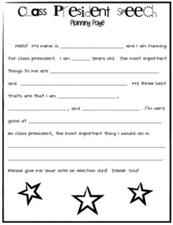 how to write a speech for class president Some ideas to include in a class president speech are an inspirational or humorous introductory story, three or four realistic ideas that students want.