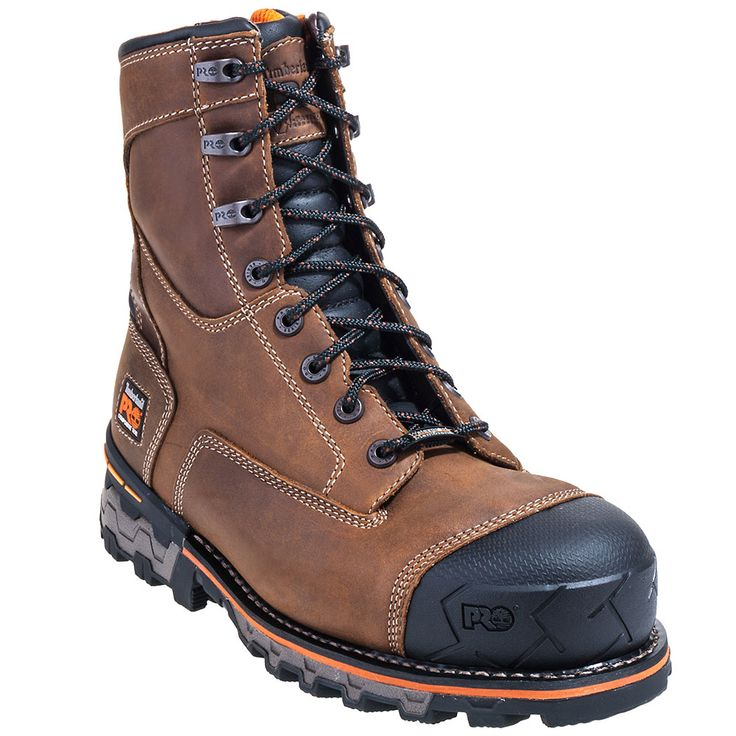 Timberland Pro Boots Men's Brown 92671 Boondock EH Composite Toe Boots