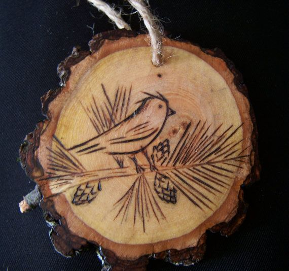 Wood slice Ornament by littlesisterscrafts on Etsy, $8.00