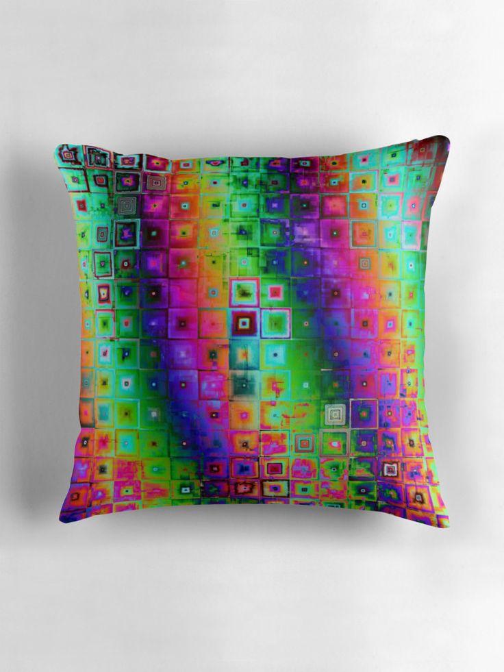 Hippy by Silvia Ganora #pillows #throwpillows #homedecor #abstract #hippy