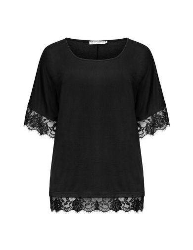 Shirt mit Spitze von Studio. Jetzt entdecken: http://www.navabi.de/shirts-studio-shirt-mit-spitze-schwarz-23852-2400.html?utm_source=pinterest&utm_medium=social-media&utm_campaign=pin-it