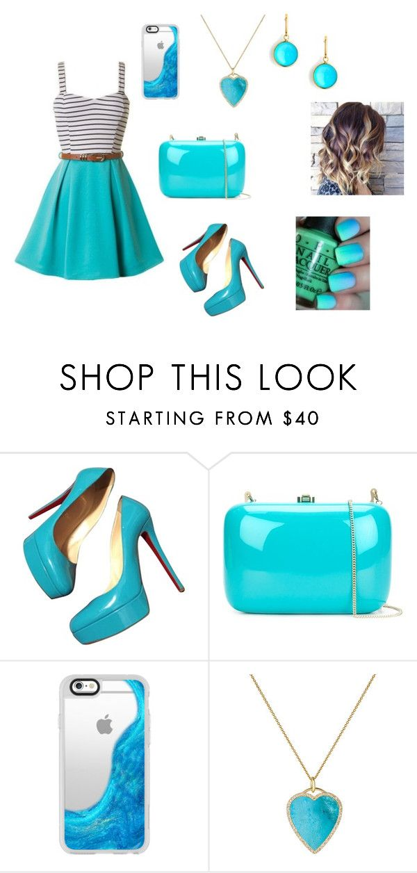 """kj"" by aiste-mini on Polyvore featuring Christian Louboutin, Rocio, Casetify, Jennifer Meyer Jewelry, Syna, men's fashion and menswear"