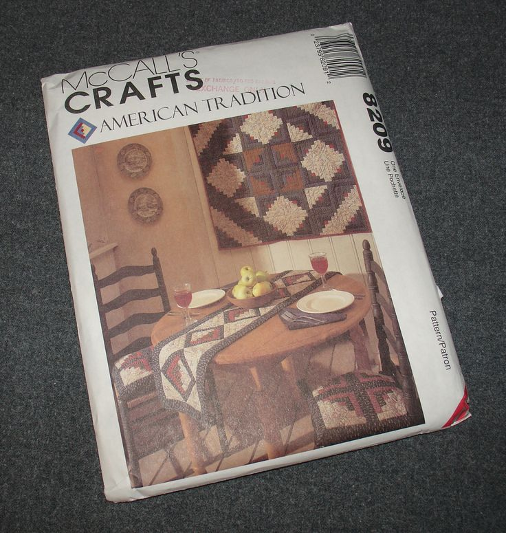 McCall's Quilt Pattern 8209 American Tradition Wall Hanging, Apron, Table Runner, Placemats, Chair Seat Pads - UNCUT, UNUSED! by TreasuresByChance on Etsy