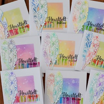 InvisiblePinkCards: Handmade Thank you cards using STAMPlorations stamps and Distress Oxides