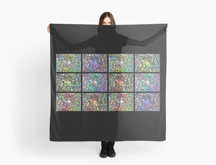 Crystal Musings Collage by Dorothy Berry-Lound #scarf #fashionaccessories #healingart #printforsale #spiritual #interiordecor