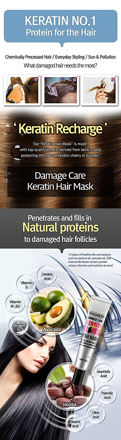 Big Green Damage Care Keratin Hair Mask 0.3 fl oz, 5ea-Natural Ingredients-Hydrating-Repairing-Smoothing-Strengthening-Softening-Silicone Free -- Want to know more, click on the image. #haircolor