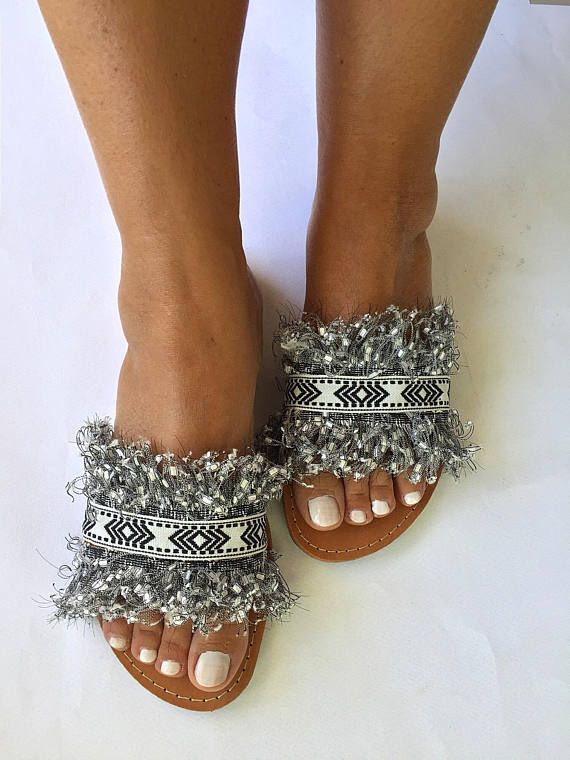 20% OFF Slip On Handmade Leather Sandals