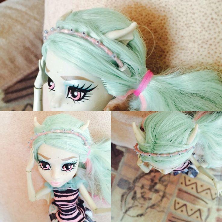 Ободок для куклы из скрепки, ниток, бисера и воображения!