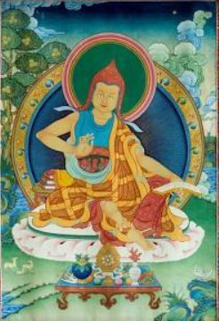 Can anyone help identify who is in the thangka on the cover of Jay Garfield's Engaging Buddhism?