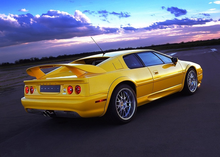 Lotus Esprit V8 yellow. Great - until you need to perform maintenance.