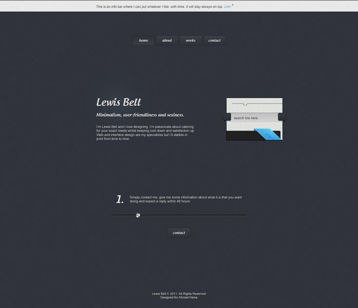 Minimal Psd Portfolio Template With Images: Simple, Professional And Minimal Portfolio Site Layout. In