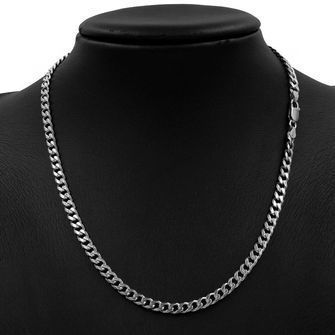50cm Sterling Silver BCD Curb Chain Necklace - SN-BCD150