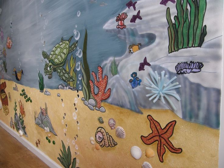Best 20 ocean mural ideas on pinterest ocean kids rooms for Underwater mural ideas