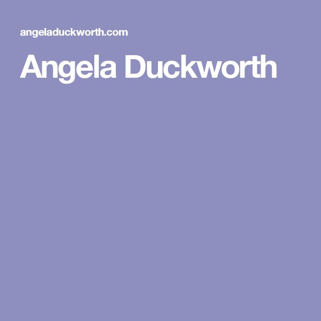 Angela Duckworth's grit questionnaire