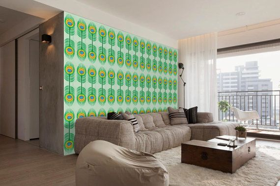 Peacock - self adhesive DIY wallpaper, home decor ...