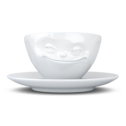 Tassen Espresso Cup, Grinning, White - Kitchenique