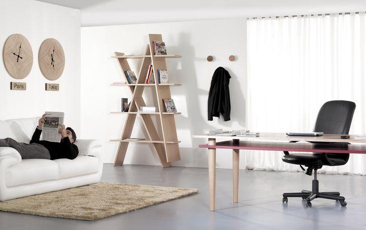 #XI wooden bookshef in oak, designed to be assembled like a puzzle #woodshelf #oak #wewood #puzzle #shelfdesign