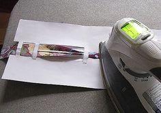 Шаблон из бумаги для изготовления косой бейки.