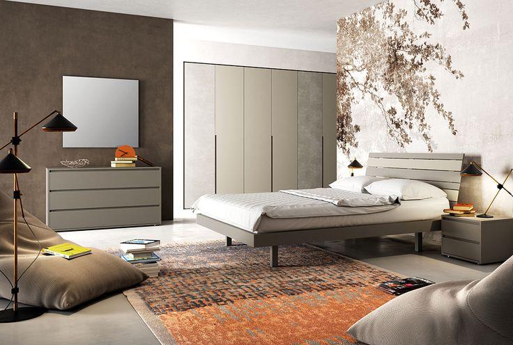 Una camera in stile autunnale. Anche la parte riprende i dettagli di arredo per rendere il tutto perfettamente uniforme. #LaCasaModerna #Beds #SweetDreams ● lacasamoderna.com