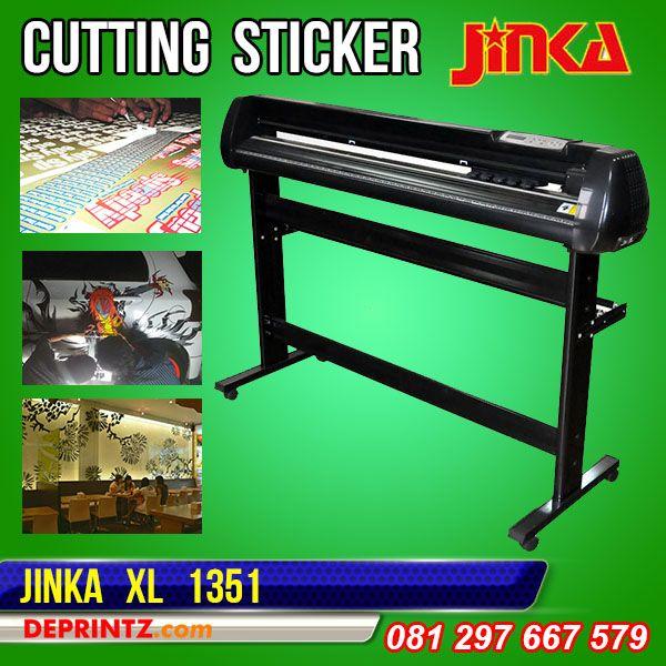 Mesin Cutting Sticker JINKA 1351 XL adalah Mesin Cutting Plotter JINKA tipe TERBARU, Tipe XL memiliki keunggulan Model lebih Bagus, Hasil Potong lebih Optimal, Body Lebih besar, Suara Mesin lebih halus, Memory Internal lebih Stabil, dan memiliki Sensor Infra Red yang bisa digunakan untuk Print & Cut. Mesin Cutting Plotter ini mampu memotong dengan area lebar Bahan 1350mm dan area lebar potong 1240mm. Harga PROMO : Rp. 7.150.000,-