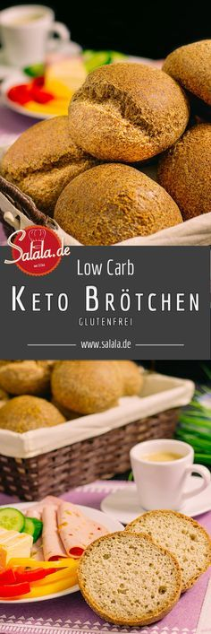 Keto-Brötchen Low Carb backen Sonntags-Semmeln glutenfrei backen - salala.de - Super leckere Low Carb Brötchen mit wenig Aufwand selber backen. Obendrein sind unsere Low Carb Brötchen glutenfrei und sojafrei.