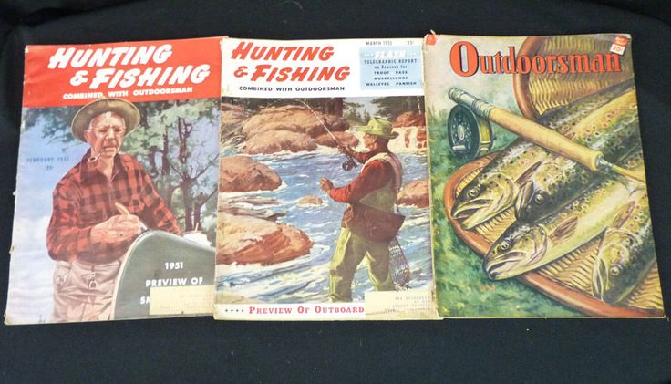 Lot 3 Issues Outdoorsman/ Hunting & Fishing Magazines 1947 1951 Vintage Ads