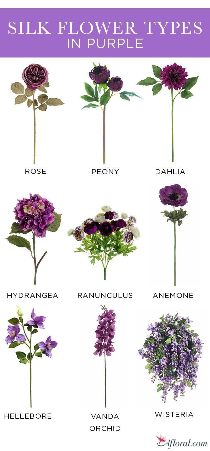 Here Are The Most Beautiful Silk Flower Collections To Make Your Event Special 2019 Flowers Decor Types Of Purple Flowers Types Of Flowers Purple Flower Arrangements