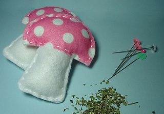 DIY Mushroom Plushies (and if you've got kitties, you can fill them with catnip and use them as cat toys!).