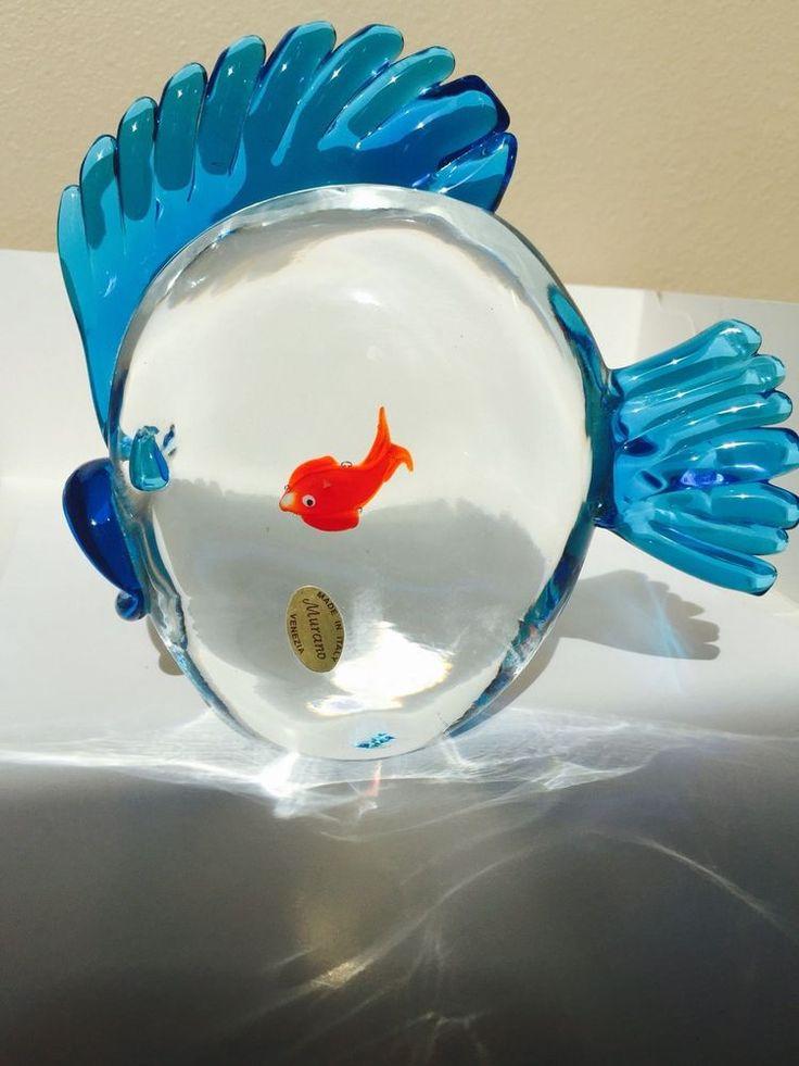 55 best murano fish images on pinterest fish aquariums for Murano glass fish