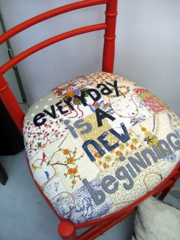 everyday is a new beginning (chair from Fringe Arts on Kloof Street, CT)