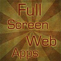 Full Screen Web Apps