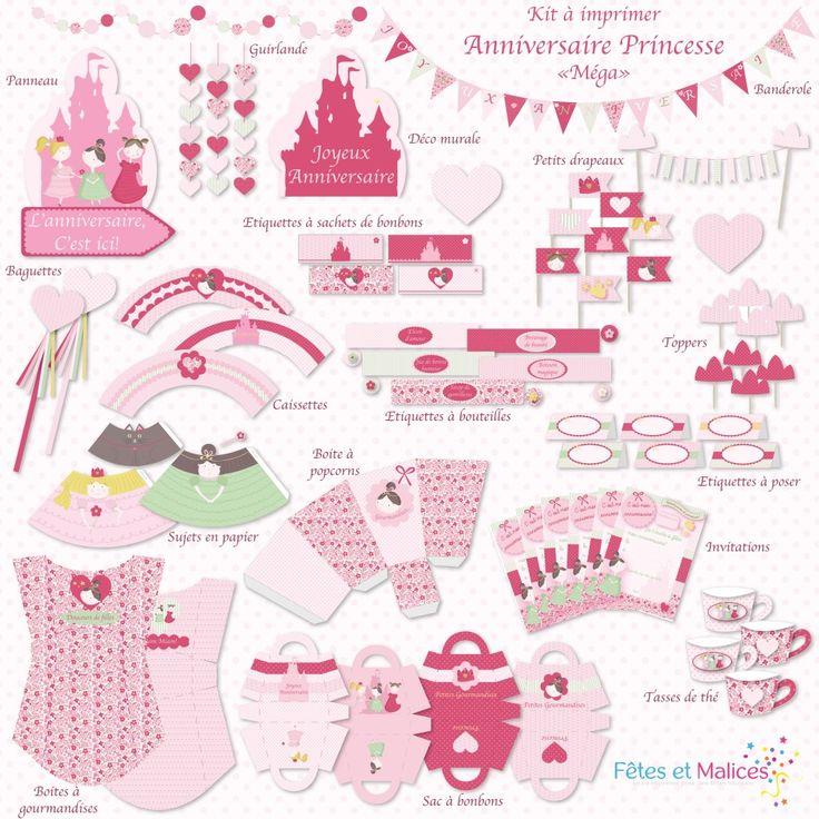 les 25 meilleures id es de la cat gorie anniversaire de princesse sur pinterest f te d. Black Bedroom Furniture Sets. Home Design Ideas