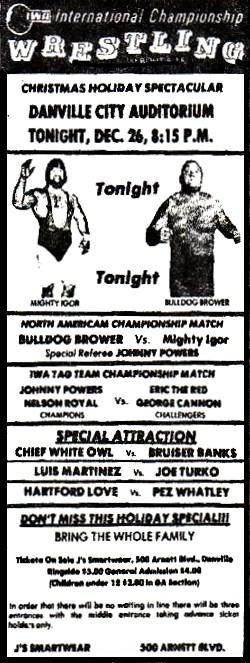 Danville, VA (City Auditorium) 1975-12-26 (IWA)