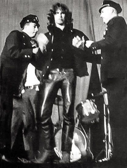 Jim Morrison being arrested.