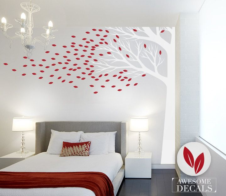 Corner Tree Wall Decal  FREE SHIPPING  Vinyl Wall by awesomeDecals, $90.80