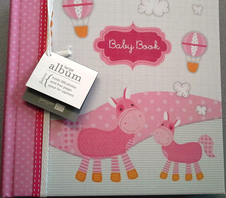 Baby Girl/ Once Upon A Time Pink Linen Large Photo Album by Pepper Pot