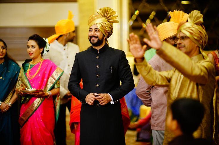 bandgala - black jodhpuri - candid wedding photography